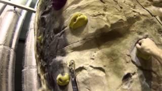 Climbing 29 M (95 Feet) High Indoor Climbing Wall [GoPro HERO3 2.7k Resolution]