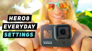 My GoPro Hero8 Everyday Video Settings! GoPro Tip #673 | MicBergsma