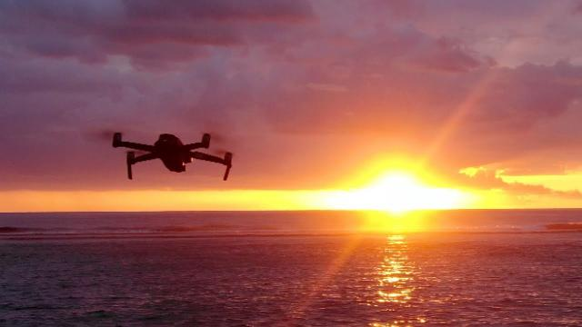 EPIC DRONE CHASING INTO SUNSET!