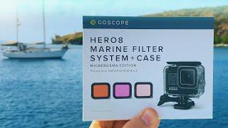 GoScope Hero8 UnderWater Case / Filters - MicBergsma Edition! GoPro Tip #677 | MicBergsma