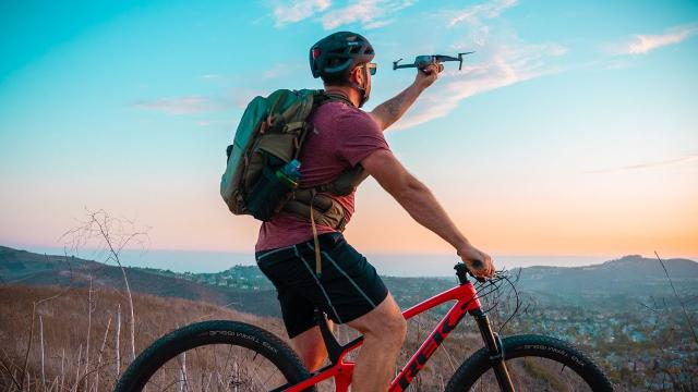 How to Film Yourself with a Drone while Mountain Biking