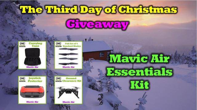 Mavic Air Goodies -  Day 3 of the 12 Days of Drone Valley Christmas Giveaways