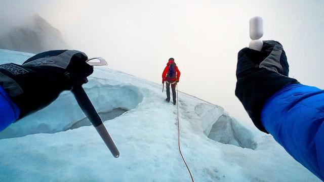 POV Mountain Climb in a STORM - Insta360 GO 2