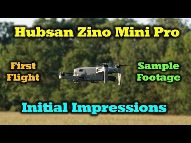 Hubsan Mini Pro - First Flight | Footage | First Impressions