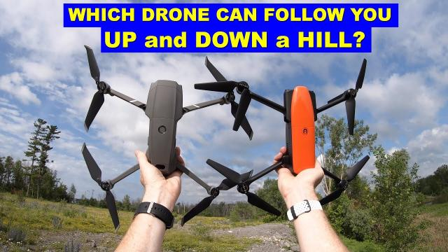 Which Drone Can Follow You UP & DOWN a Hill? DJI Mavic 2 or Autel EVO