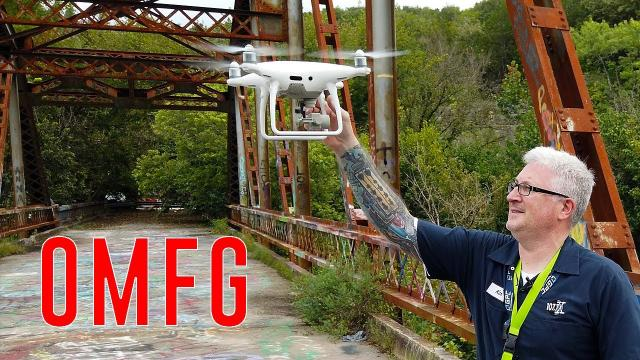 DISTURBING discovery at Abandoned bridge | BRIGHTEST tablet for drones