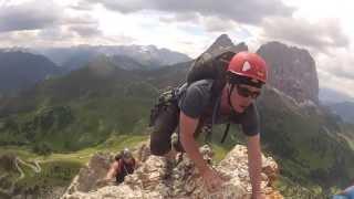 Dolomiten 2013 Südtirol Sella Gruppe Rock Climbing GoPro Hero3