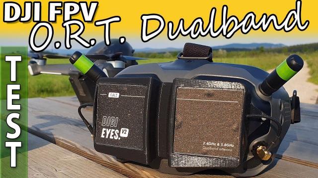 O.R.T. Digieyes V2 - DJI FPV dualband Patch antennas