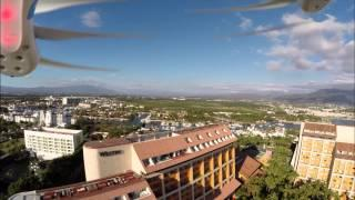 Let's have fun: DJI Phantom Fly Off President's Balcony