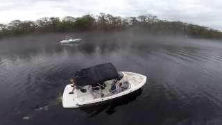 Boat Drone Flying The St. Johns River Sanford FL DJI Phantom GoPro Hero 3+ Black