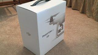 Bought a drone!  Unboxing the DJI Phantom 4 drone and taking it for a test flight.