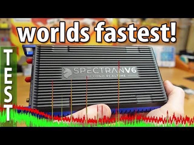 WORLDS FASTEST USB RF spectrum analyzer - Aaronia Spectran V6 RSA500x