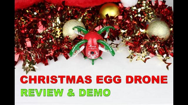 The CHRISTMAS EGG DRONE JJRC - Review and Demo