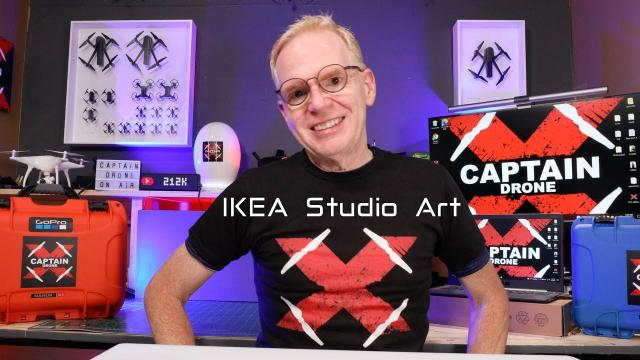 I updated my Studio with IKEA Drone Art!