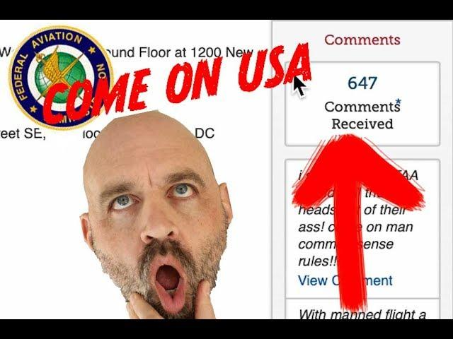 FAA Drone Deadline Today! Only 647 Responses...!!! Come on USA