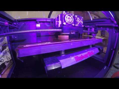 Timelapse (gopro 4) Of Makerbot Replicator 2x 3d Printing