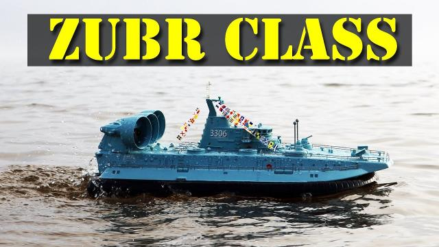 AMAZING! The RC Hobby ZUBR Class LCAC Warship Hovercraft - Review - HG C201 1/110 Brushless
