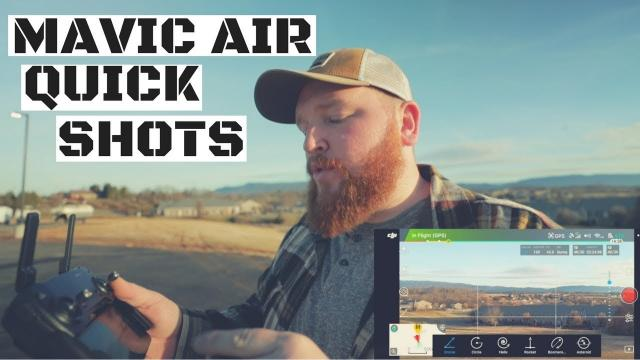DJI Mavic Air QuickShots Tutorial with Examples - Easy, Cinematic Drone Shots With Only A Few Taps