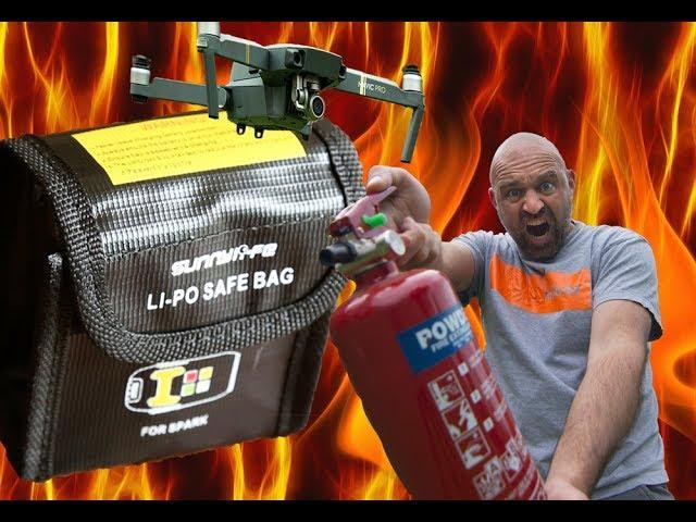 Drone Li-Po Bag Fire test FAIL WARNING!!!