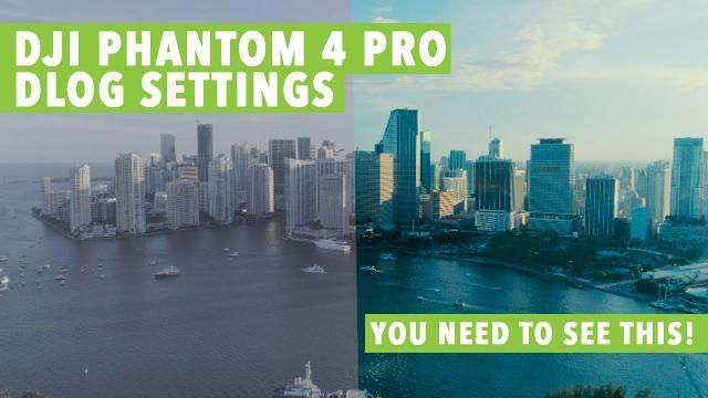 DJI Phantom 4 PRO DLOG Settings!