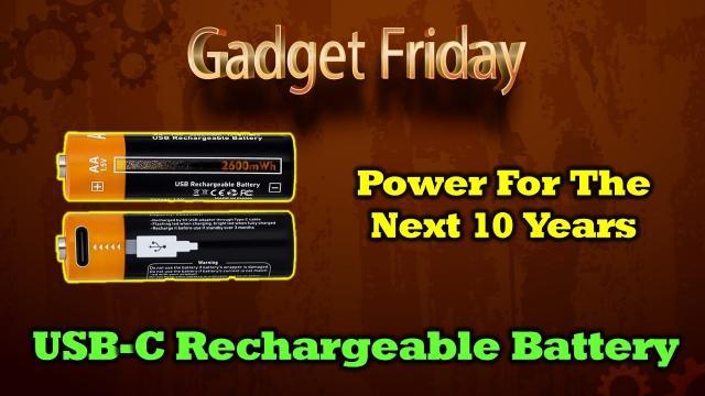 Gadget Friday - UZone   USB-C Rechargeable AA Batteries