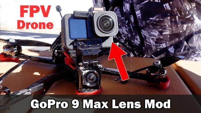 Max Lens Mod for FPV - GoPro 9 Horizon Lock Comparison