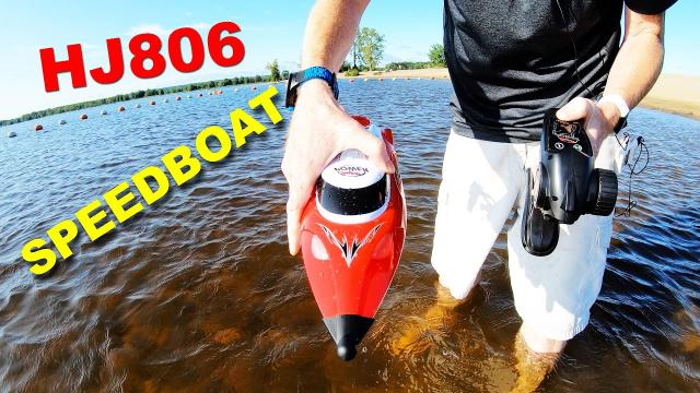 HJ806 RC 35 km/h Speedboat with front and rear lights - Only $47 - Review