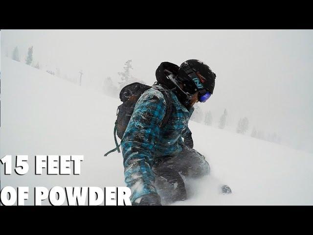 Snowboarding in a Blizzard, Mammoth Mountain - DJI MAVIC PRO