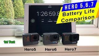 GoPro Hero7, Hero6, Hero5: Battery life Comparison - GoPro Tip #616
