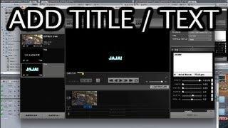GoPro Studio 2.0 Adding Text / Title - GoPro Tip #220