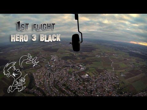 1st Flight GoPro Hero 3 (Black) On RC Plane