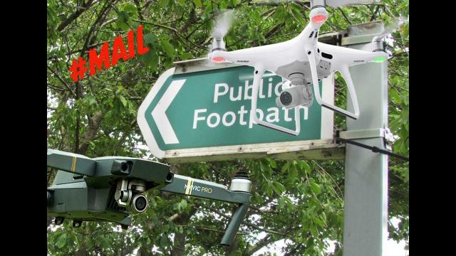Can I Fly my drone on Public land or Public Foot Paths? //MAIL- #126