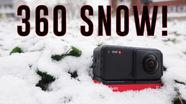 Insta360 ONE R in the Snow (FPV Ride)