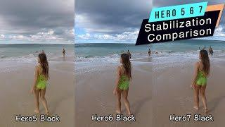 GoPro Hero7 Hero6 Hero5 Stabilization Comparison - GoPro Tip #627
