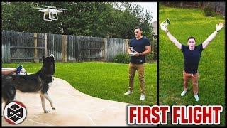 I BOUGHT A DRONE! - DJI Phantom 4 First Flight