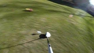 Spectacular Onboard Shot With GoPro Hero 3+ Mounted On A Golf Club In Slow Motion
