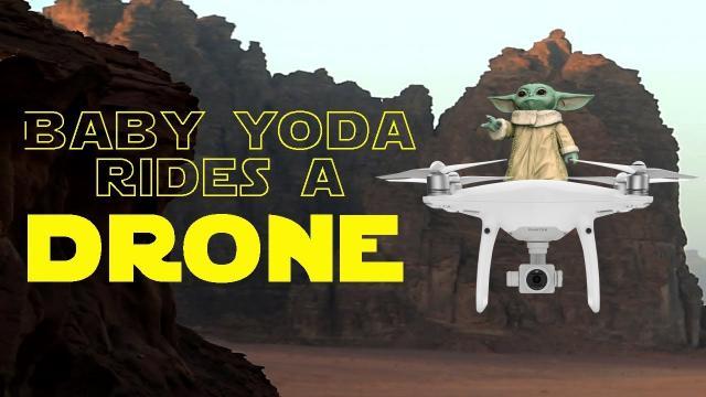 Baby Yoda rides a DRONE (Win a Baby Yoda) KEN HERON