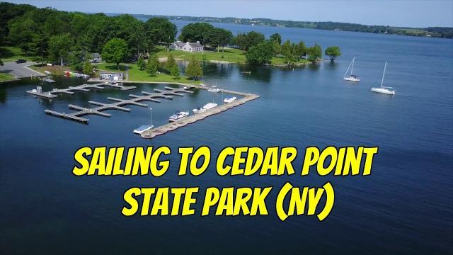 Sailing to Cedar Point State Park (NY).  Mavic Pro footage. Ep74