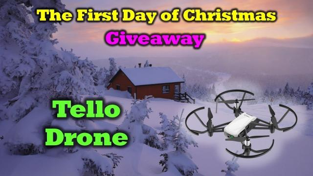 Free Tello Drone -  First Day of the 12 Days of Drone Valley Christmas Giveaways 2019