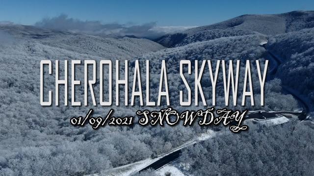 SNOWDAY!!! Top of #CherohalaSkyway a #djiMini2 perspective