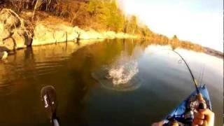 GoPro Kayak Bass Fishing - No More Lies - Awolnation