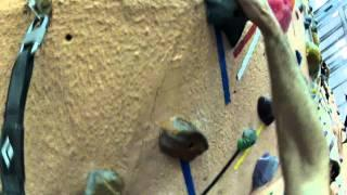 Huge Epic Rock Climbing Sport Lead Fall With GOPRO Camera