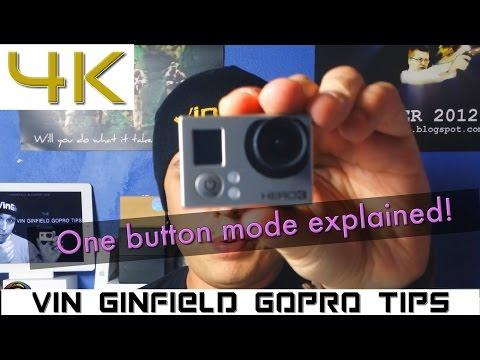 The ONE Button Mode Explained (GoPro Tip #180)