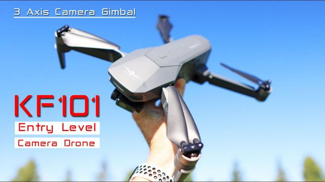 The KF101 Entry Level Camera Drone Looks like an expensive Mavic Drone - Review