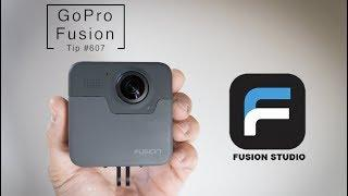 GoPro Fusion: How To IMPORT, EDIT, EXPORT Video with Fusion Studio - GoPro Tip #607