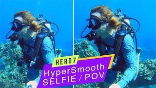 GoPro Hero7 Black: Selfie/POV HyperSmooth Underwater Comparison!  GoPro Tip #637