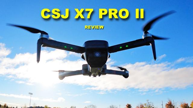 The CSJ X7 PRO 2 is a good Camera Drone at a good price! Review