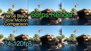 Hero4 Black - Slow Motion Comparison Test ( FPS&% ) 60fps Render - GoPro Tip #410