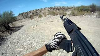 |-GUNS-| GoPro HD Shooting First Person With The AK47 And SR9 Pt.2