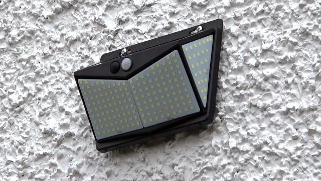 Nacinic Solar Outdoor Lights 208 Led Security Wall Lights
